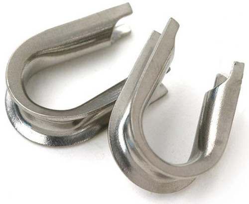 Stainless Steel Thimbles  loop protectors 50pcs available in small and large