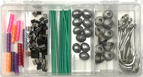Ballyhoo Pin Rig Kit Hooks, Rigging Springs, Copper Crimps, Line Wraps, Wire