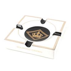Diamond Crown Royal Collection Ashtray - White & Black