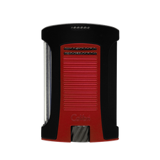 Colibri Daytona Single Lighter Black & Red