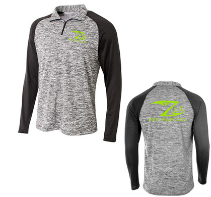 Heather 1/4 Zip Long Sleeve