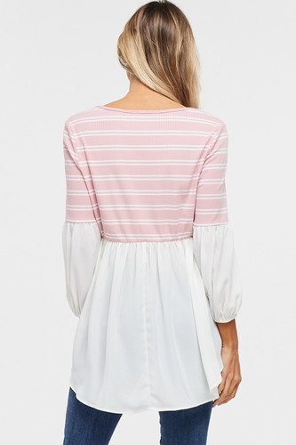 New, Pink, Blouse
