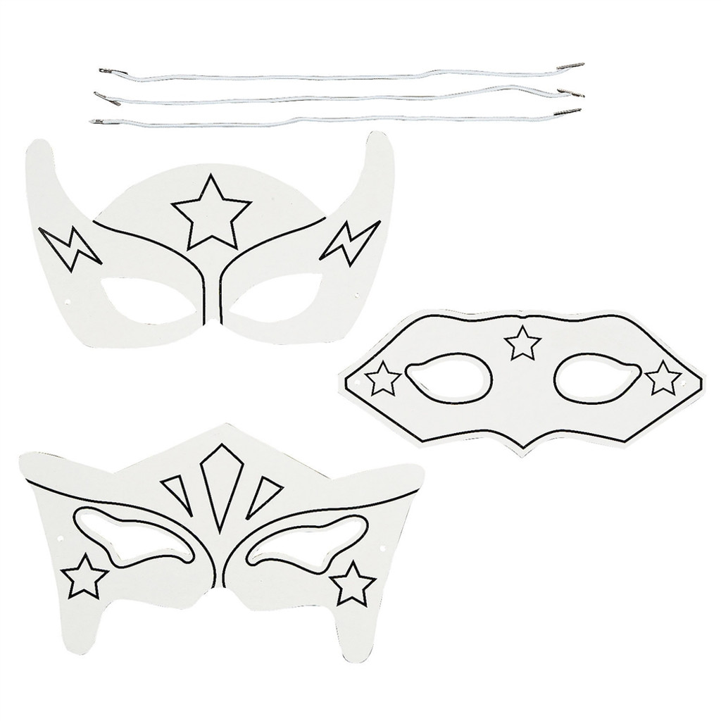 Do It Yourself Superhero Mask - 12 per pack - SKU J25810