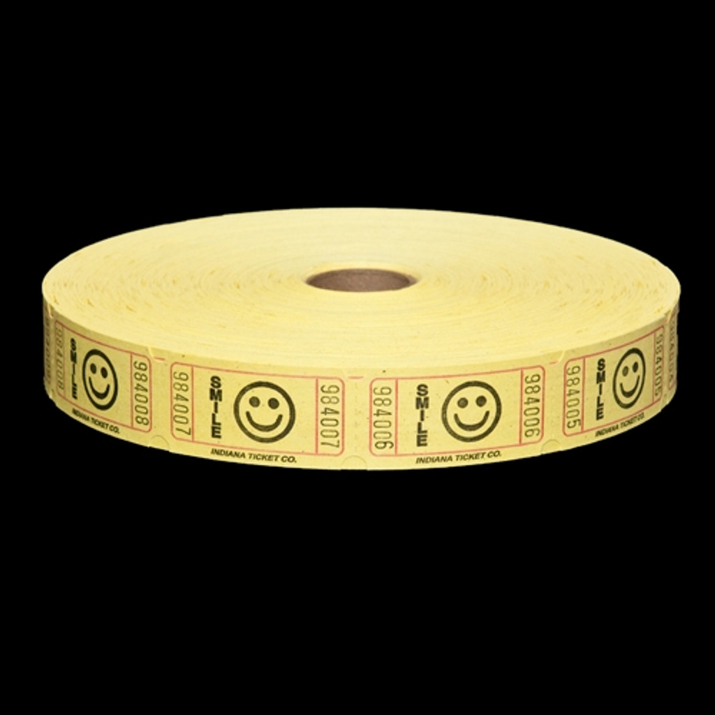 Smile Ticket - Yellow - 2000 tickets per roll - SKU M03120