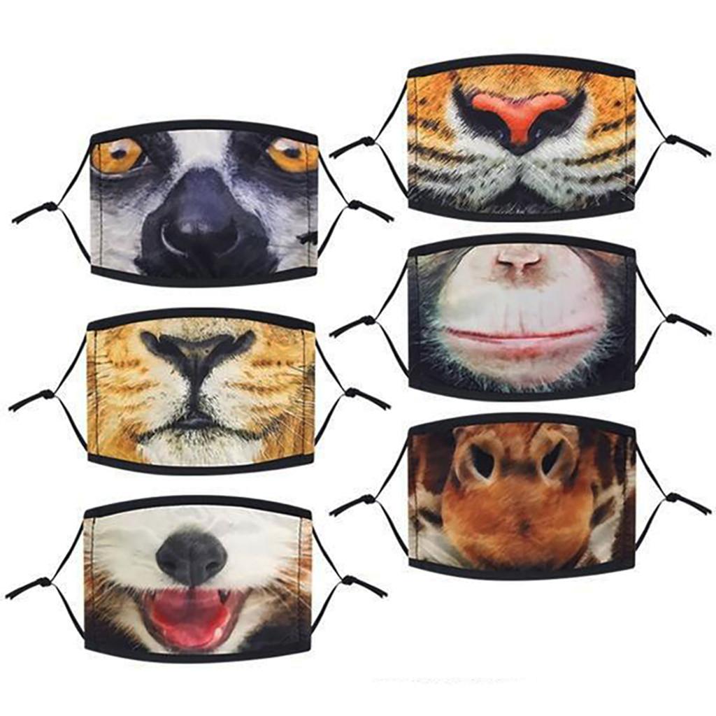 Realistic Zoo Animal Child Mask - 12 per pack - SKU F18580