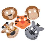 Zoo Animal Mask - 12 per pack - SKU J25750