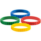 Block Rubber Bracelet - 12 per pack - SKU J25130