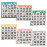 Bingo Paper Game Cards - 1 card - 6 sheets - 100 books per pack - SKU A1S6A