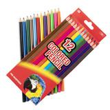 Colored Pencils - 12 pencils per box - 1 box per pack - SKU EX0009