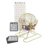 Bingo Cage Set - Brass - Bingo Equipment - SKU K001005