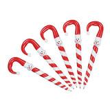 Candy Cane Snowman Pens - 12 per pack - SKU XC6620