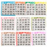 Bingo Paper Game Cards - 1 card - 10 sheets - 100 books per pack - SKU A1S10A