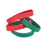 Holiday Rubber Bracelet - 12 per pack - SKU XC5750