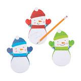 Snowman Notepads - 12 per pack - SKU XC6630