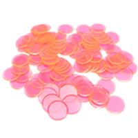 Plastic Bingo Chips - Pink - 7/8 inch size - 100 per pack - Bingo Accessories - SKU B008490PK
