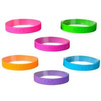 Encouraging Rubber Bracelet - 12 per pack - SKU S16860
