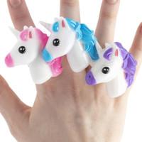 Light Up Unicorn Ring - 12 per pack - SKU U17910