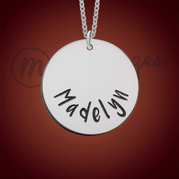 Copper Cheery Personalized Name Necklace and Engraved Pendants