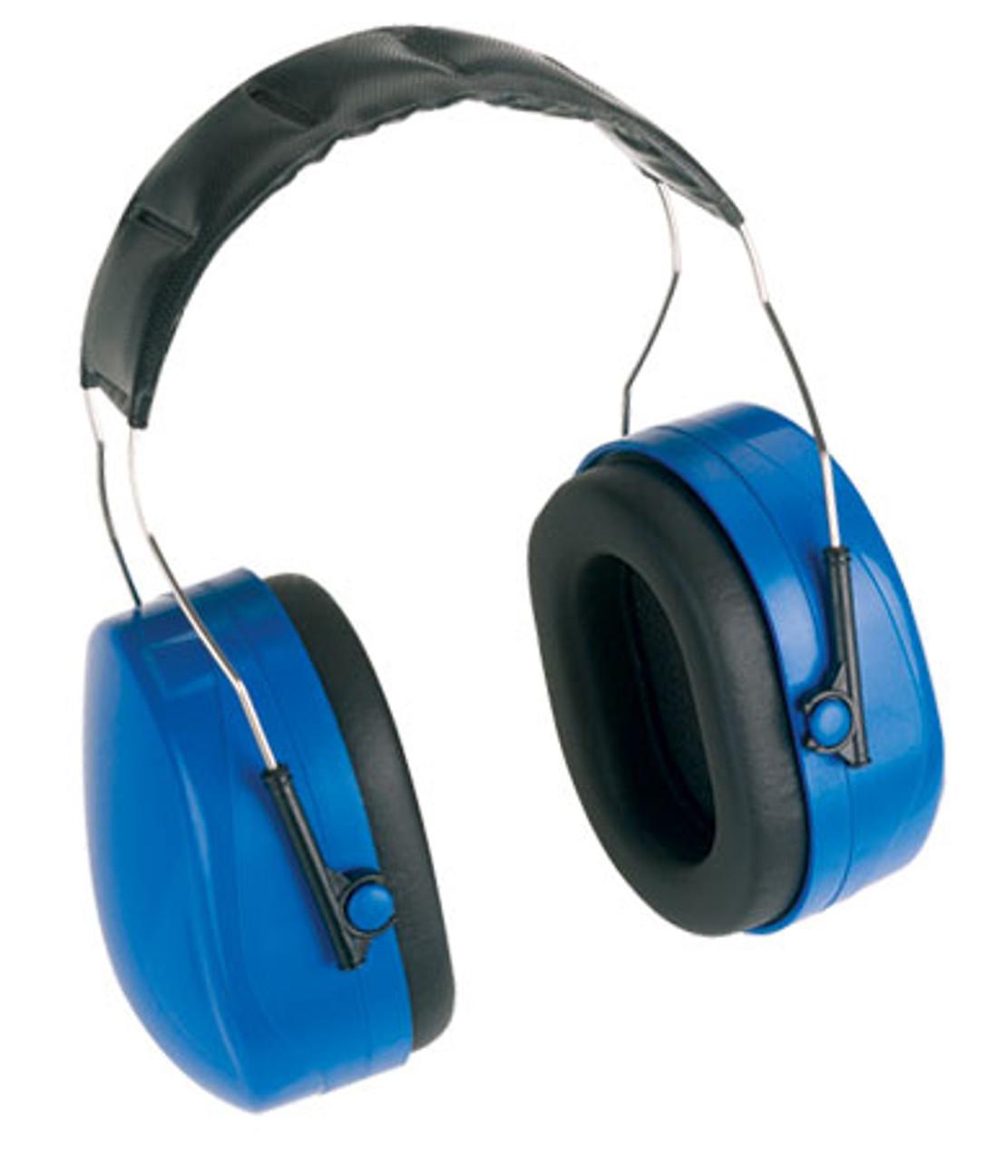 Lone Star Extreme Ear Muffs, Blue, NRR 24, Padded Foam Headband,