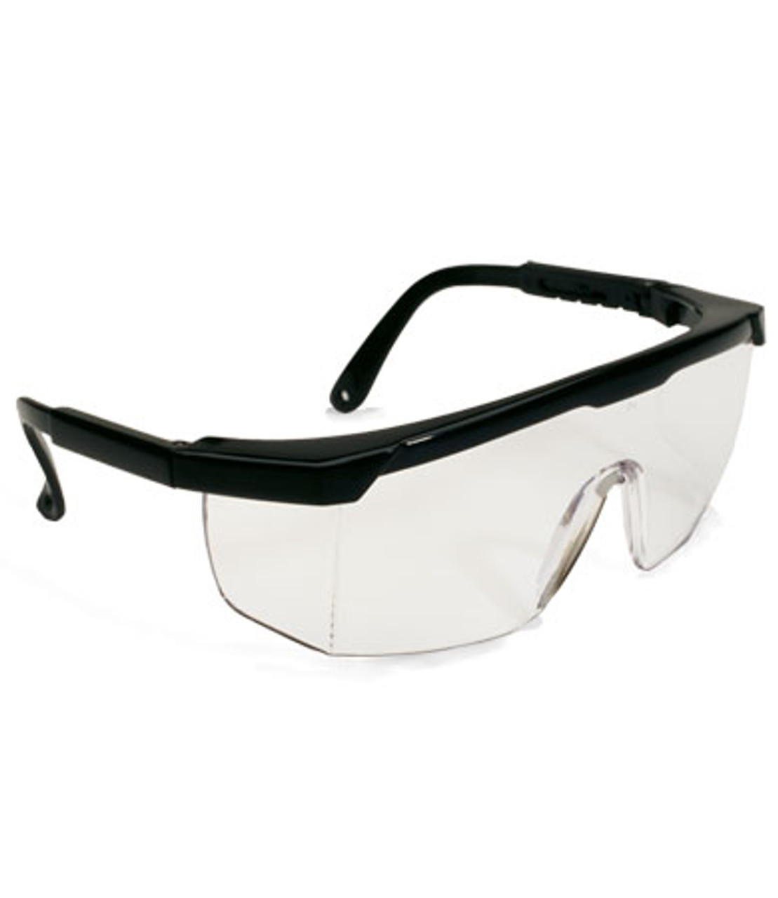 Conditional, Clear Non-coated Lens, Black Adjustable Temples, Built-in