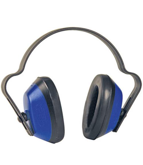 JNT Muff Light Duty Ear Muffs, Blue, NRR 19, Lightweight Headband