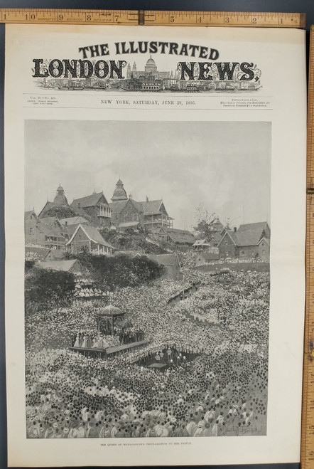 The Kabary plain Madagascar 1895 old antique print ANTANANARIVO Andohalo
