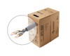 BASELINE - 1000ft 24/4 CAT5E UTP cULus CMR Solid Cable - Pull-Box - Gray