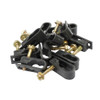 Steren 10ct Grip-Clip Dual Cable Mounting Clip Black