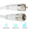75ft UHF-UHF Mini-RG8x Cable - White