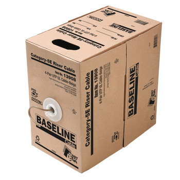 BASELINE - 1000ft 24/4 CAT5E UTP cULus CMR Solid Cable - Pull-Box - Beige