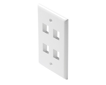 Keystone 4-Cavity Wall Plate White