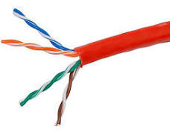 BASELINE - 1000ft 24/4 CAT5E UTP cETLus CMP Solid Cable - Pull-Box - Red