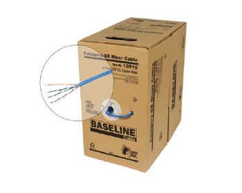 BASELINE - 1000ft 24/4 CAT5E UTP cULus CMR Solid Cable - Pull-Box - Blue