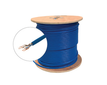 1000ft 23/4 CAT6A UTP CMR Solid Cable - Spool - White