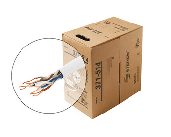 BASELINE - 1000ft 24/4 CAT5E UTP cULus CM Solid Cable - Pull-Box - Orange