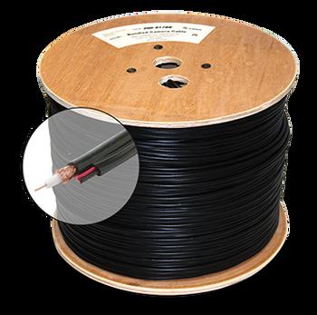 1000ft RG59 95% + 2C Power CCTV Cable ETL Black Spool