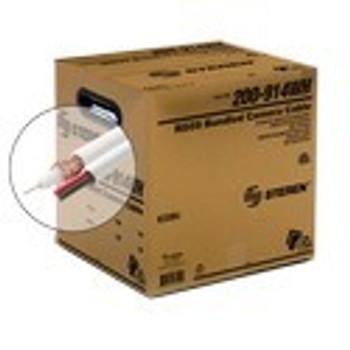 500ft RG59 95% + 2C Power CCTV Cable ETL White Reel in Box