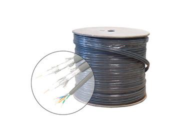 500ft Cat5e + 2-RG6/Quad Triamese UL Cable