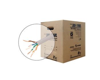 1000ft 23/4 CAT6 UTP cULus CM Solid Cable - Reel-In-Box - Blue