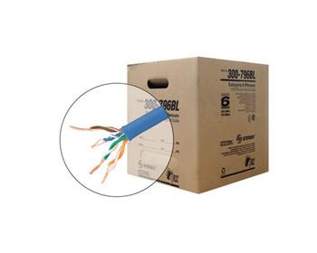 1000ft 23/4 CAT6 UTP ETL CMP Solid Cable - Reel-In-Box - Blue