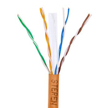1000ft 23/4 CAT6 UTP ETL CMP Solid Cable - Reel-In-Box - Orange