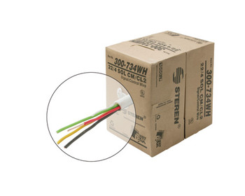 1000ft Signal/Control Solid Cable UL 22AWG/4C CL2 Pull Box White