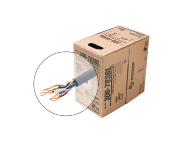 1000ft 4pr Cat5e UTP UL CM Cable Beige