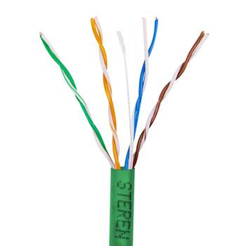 1000ft 4pr Cat5e UTP UL CM Cable Green