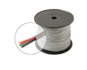 1000ft 24AWG 4C Station Wire Solid cULus Spool Beige