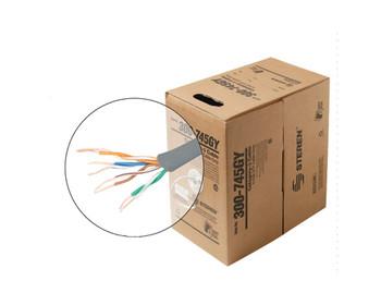 1000ft 24/4 CAT3 UTP cULus CM Solid Cable - Pull-Box - White