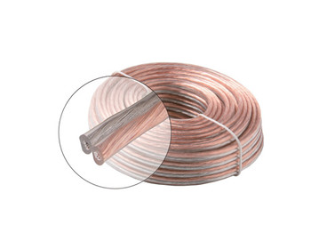 50ft 16AWG 2C Speaker Cable Clear