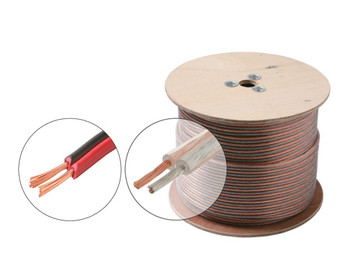 100ft 16AWG Speaker Cable 2C Oxygen Free Spool Clear