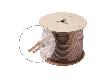 50ft 14AWG Speaker Cable 2C Oxygen Free Spool Clear