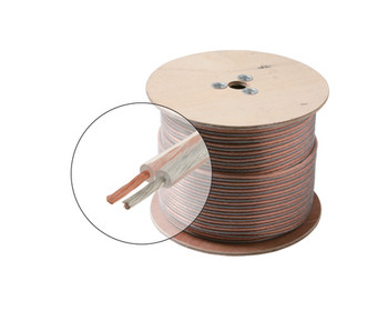 500ft 10AWG Speaker Cable High Grade 2C Oxygen Free Spool Clear